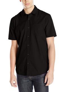 Volcom Men's Everett Solid Short Sleeve Shirt