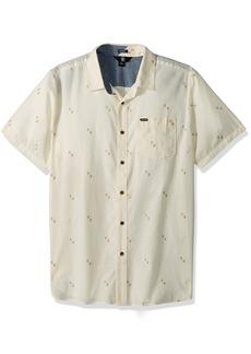 Volcom Men's Floyd Button Up Short Sleeve Shirt  M