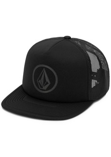 Volcom Men's Full Frontal Cheese Graphic-Print Logo Trucker Hat