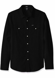 Volcom Men's Hayes Long Sleeve Modern Fit Woven Button Up Shirt