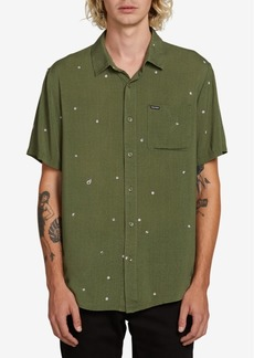 Volcom Men's Hole Punch Short Sleeve Woven Shirt