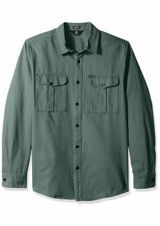 Volcom Men's Huckster Modern Fit Woven Long Sleeve Button Up Shirt  Extra Large