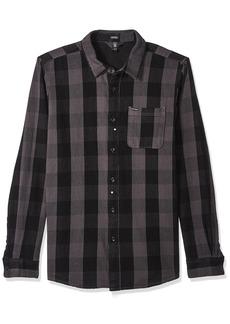 Volcom Men's Invert Check Long Sleeve Flannel Shirt  S
