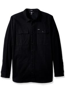 Volcom Men's Ketil Military Long Sleeve Button Up Shirt  S