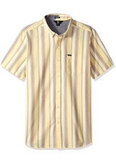 Volcom Men's Multi Toner Woven Button Up Vintage Inspired Shirt  Extra Large
