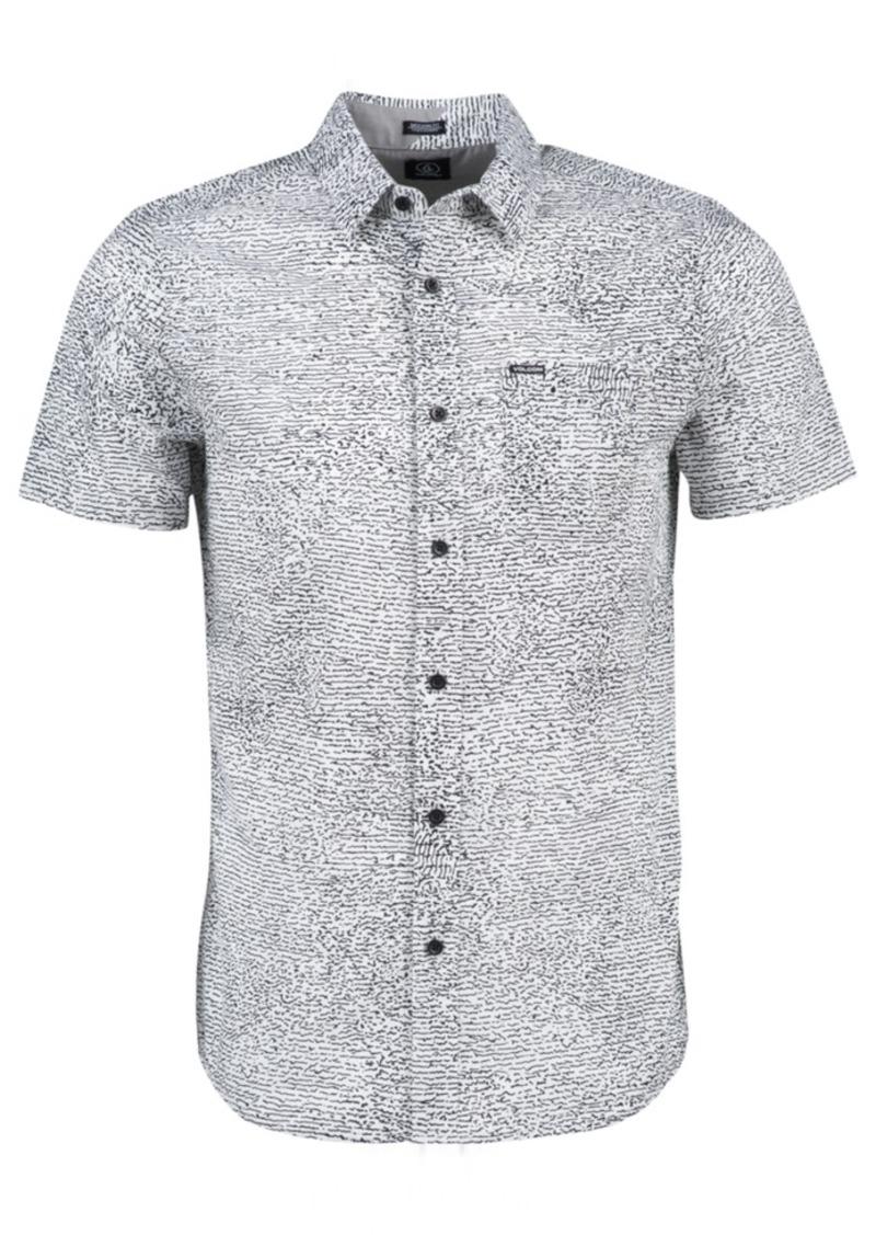 Volcom Men's New Noise Squiggle Print Short-Sleeve Shirt