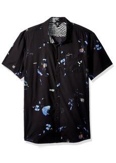 Volcom Men's Oblivion Button up Short Sleeve Shirt  XS