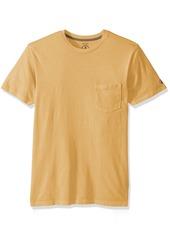 Volcom Men's Pale Wash Solid Short Sleeve T-Shirt  S
