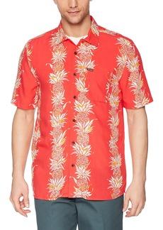 Volcom Men's Palm Glitch Short Sleeve Button up Shirt  XS