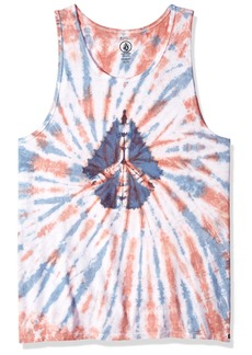 Volcom Men's Peace Stone Tie Dyed Tank Top  XL