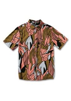 Volcom Men's Pleasure Cruise Classic Fit Short Sleeve Button-Up Shirt