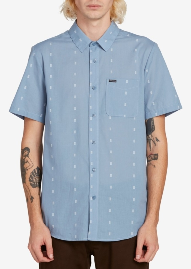 Volcom Men's Printed Short Sleeve Woven Shirt