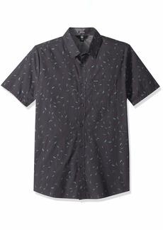 Volcom Men's Quency Dot Button Up Short Sleeve Shirt