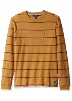 Volcom Men's Randall Knit Crew Long Sleeve Vintage Inspired Striped Shirt  Extra Large