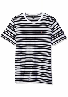 Volcom Men's Randall Knit Crew Short Sleeve Striped Shirt  Extra Large