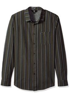 Volcom Men's Sable Long Sleeve Button up Shirt  M