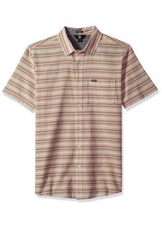 Volcom Men's Sable Short Sleeve Button Up Shirt  XS
