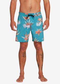 "Volcom Men's Sand Bar 17"" Floral Graphic Swim Trunks"