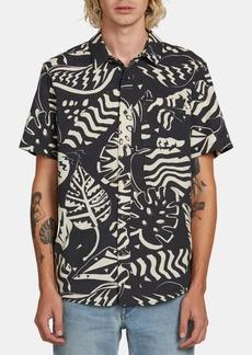Volcom Men's Scrap Floral Woven Shirt
