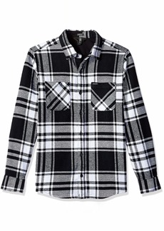 Volcom Men's Shader Modern Fit Woven Long Sleeve Button Up Shirt  Extra Large