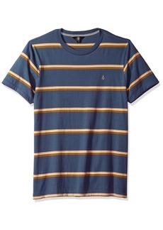 Volcom Men's Sheldon Short Sleeve Knit Crew Shirt deep Blue S