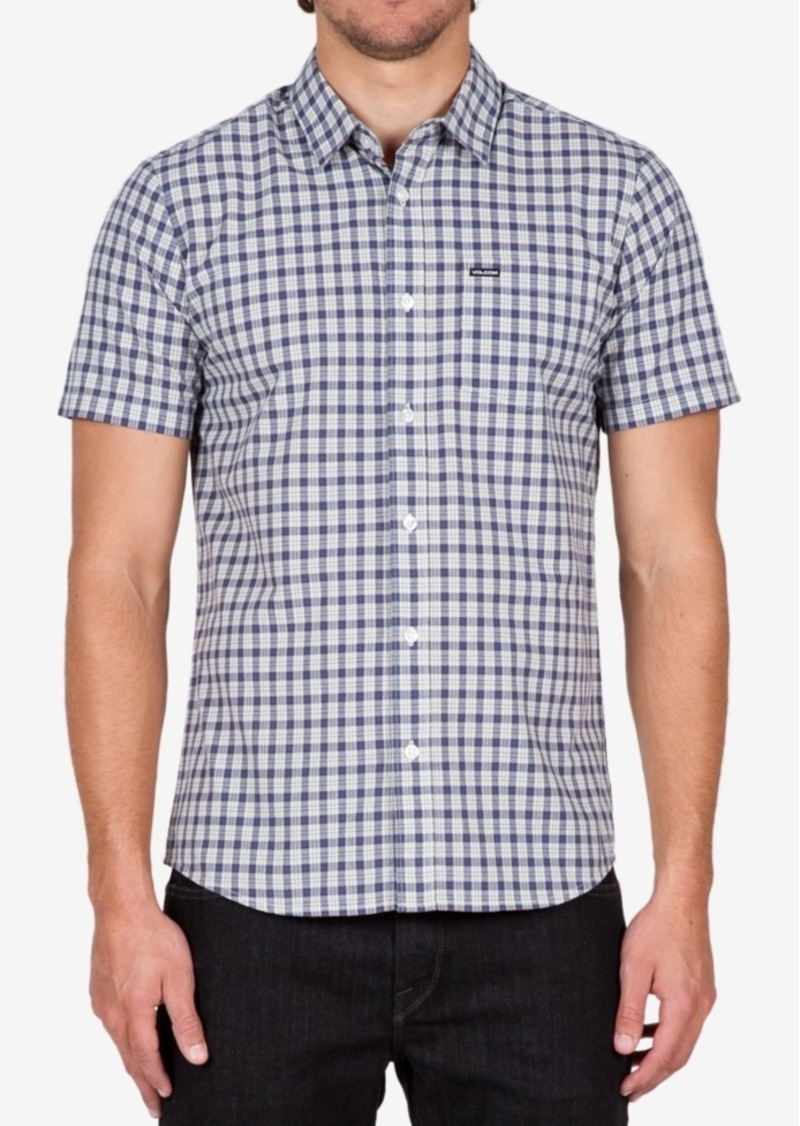 Volcom Men's Short-Sleeve Arthur Plaid Shirt
