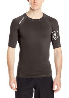 Volcom Men's Solid Short Sleeve Rashguard  arge