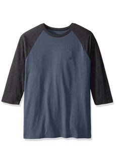 Volcom Men's Solidheather 3/4 Sleeve Raglan Shirt  L