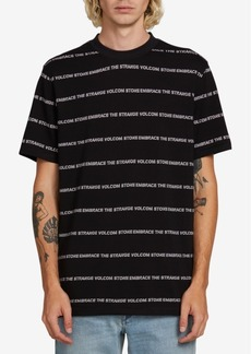 Volcom Men's Speak To You Logo Stripe Graphic T-Shirt
