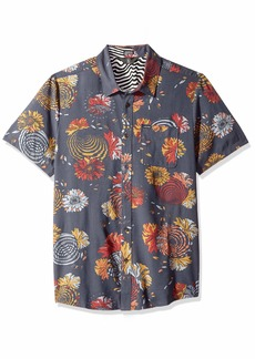 Volcom Men's Stoney Delusion Woven Button Up Short Sleeve Shirt  Extra Large