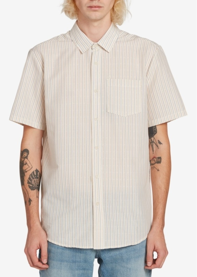 Volcom Men's Striped Short Sleeve Woven Shirt