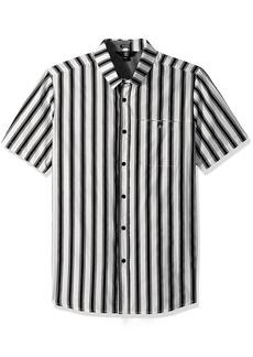 Volcom Men's Sunland Short Sleeve Button Up Shirt  S