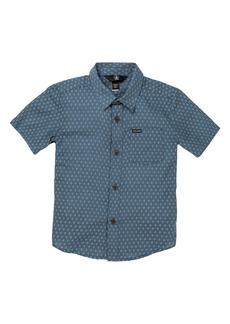 Volcom Milton Dobby Short Sleeve Button-Up Shirt (Toddler & Little Boy)