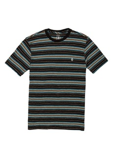 Volcom Moorley Stripe Cotton T-Shirt (Toddler & Little Boy)