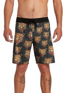Volcom Ozzie Stoney Leopard Print Board Shorts
