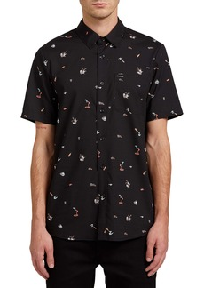 Volcom Party Pieces Short Sleeve Button-Up Shirt