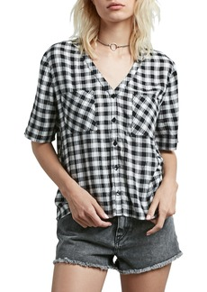 Volcom Pick It Up Gingham Top