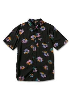 Volcom Pleasure Cruise Floral Short Sleeve Button-Up Shirt