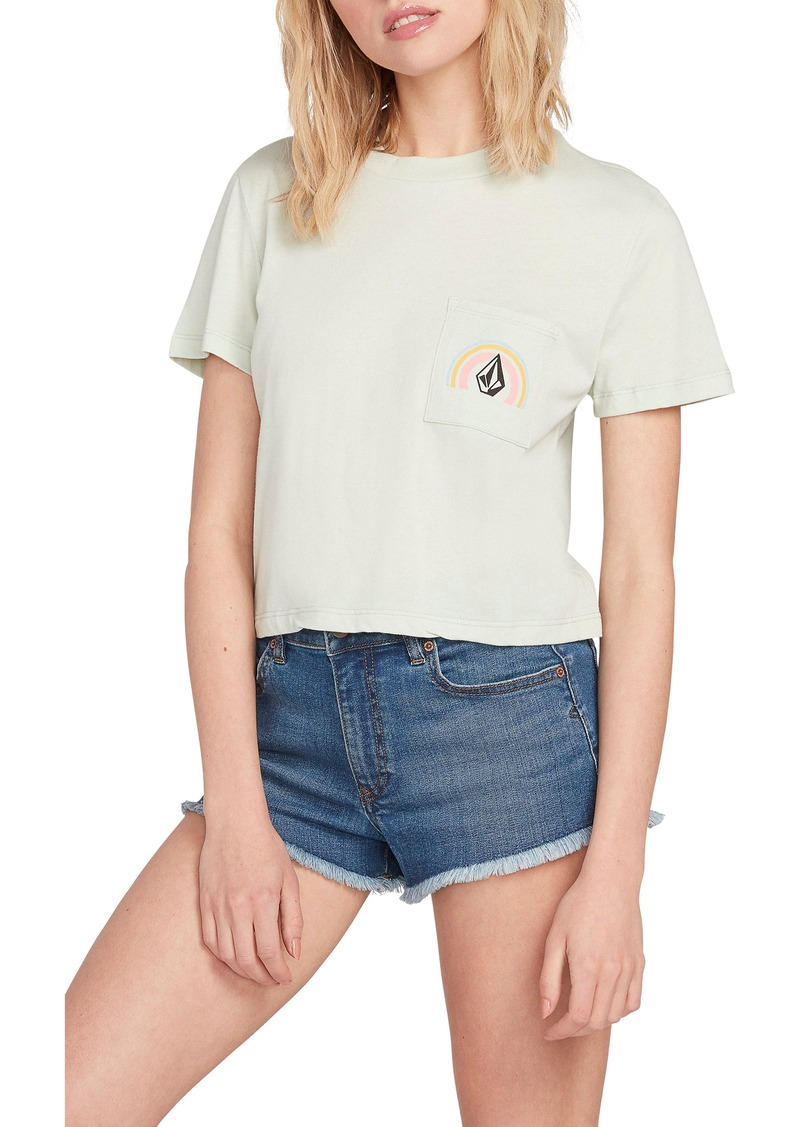 Volcom Pocket Dial Crop Graphic Tee