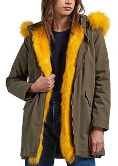 Volcom Pow Now Removable Faux Fur Trim Parka