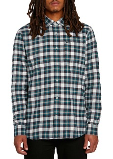 Volcom Repeater Plaid Flannel Button-Up Shirt