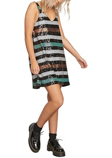 Volcom Seek Whence Sequin Stripe Dress
