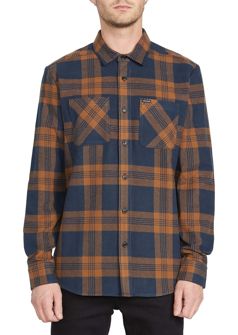Volcom Shade Stones Slim Fit Check Button-Up Shirt
