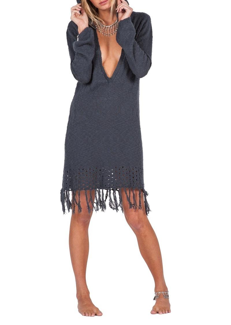 Volcom Shred Till Dead Hooded Sweater Dress