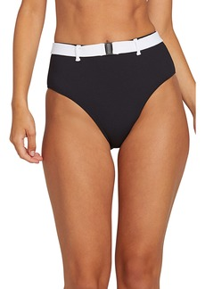 Volcom Simply Rib Retro High Waist Bikini Bottoms