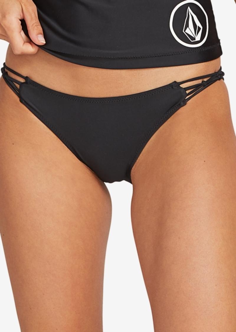 Volcom Juniors' Simply Solid Cheeky Bikini Bottoms Women's Swimsuit