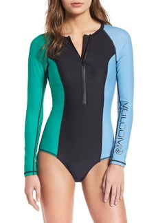 Volcom Simply Solid Long Sleeve One-Piece Swimsuit