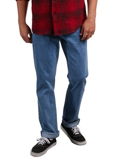 Volcom Solver Straight Leg Jeans (Stone Blue)