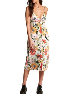 Volcom Surfbird Floral Print Midi Dress