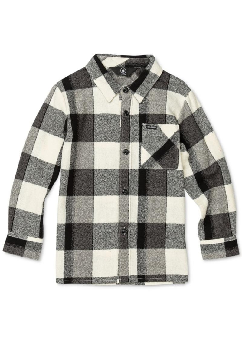 Volcom Toddler & Little Boys Buffalo-Plaid Cotton Shirt
